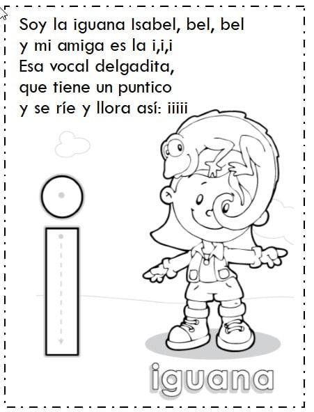 Las vocales i, o, a