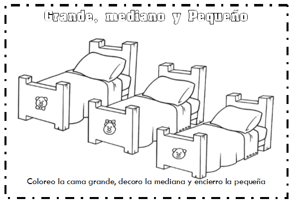 Características de los objetos: Grande, mediano, pequeño Largo, corto Grueso, delgado