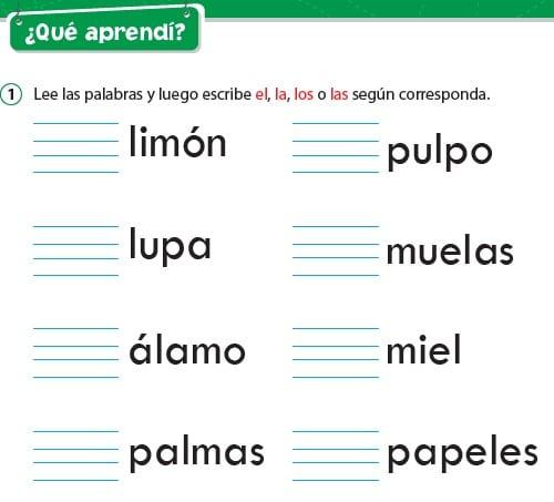Consonante L l (la, las, el y los)